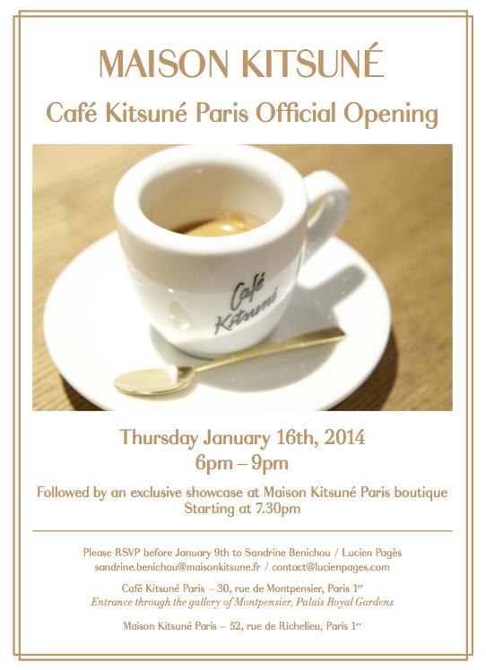 Opening Café Kitsuné Paris